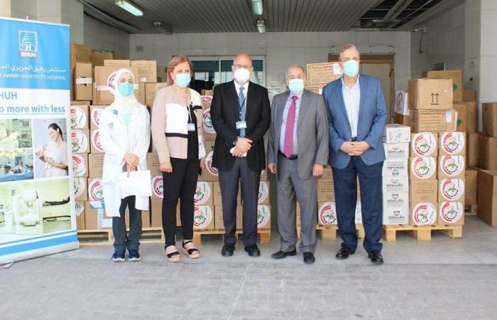 نقابة الصيادلة سلمت مستشفى الحريري هبة طبية من الأردن