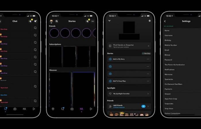 سناب شات يطرح الوضع الداكن عبر iOS