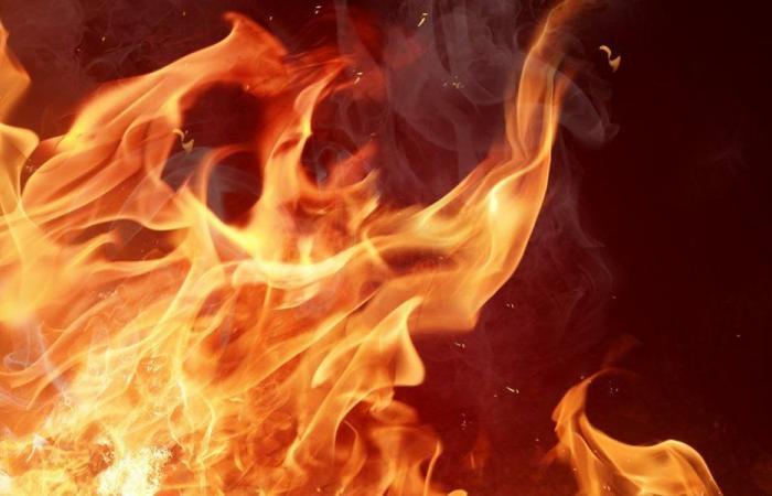 حريق داخل بسطة بداخلها غالونات بنزين ومازوت!