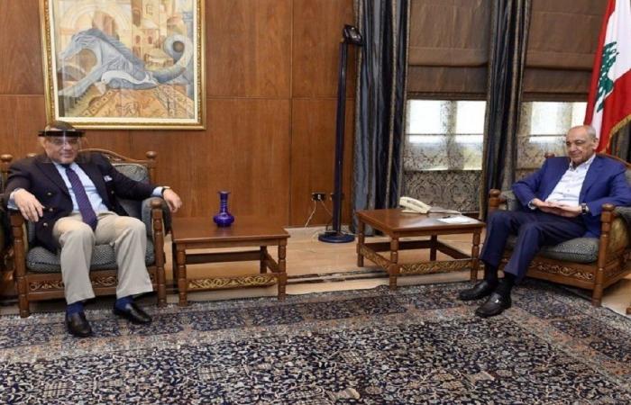 الاوضاع العامة بين برّي والسفير المصري