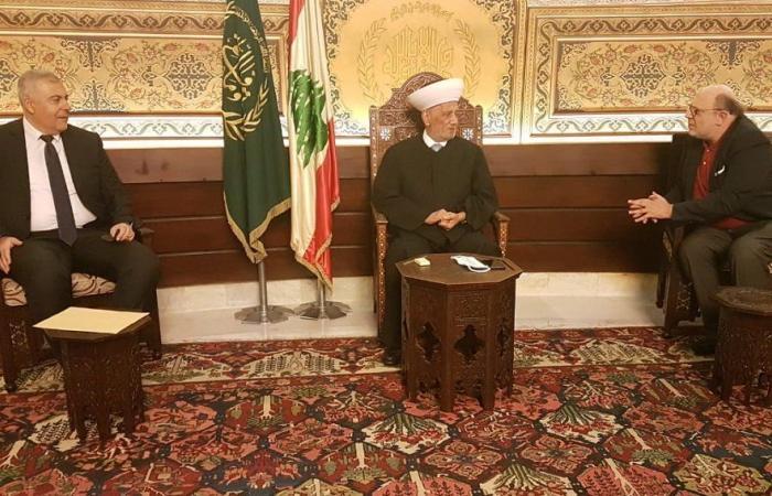 دريان التقى محافظ بيروت وسفير لبنان في السعودية