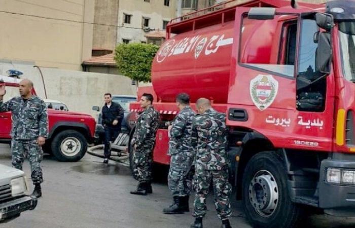 اعتصام لعناصر من فوج إطفاء بيروت… والسبب؟