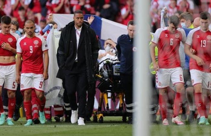 مدرب الدنمارك: إريكسن سيرتدي قميص المنتخب ويسمع الضجيج من المستشفى