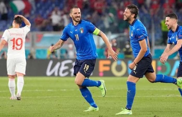 إيطاليا تهزم سويسرا وتبلغ ثمن نهائي بطولة أوروبا