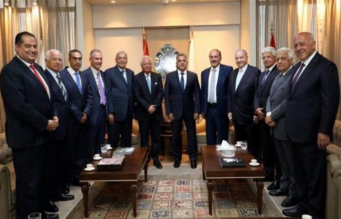 إبراهيم استقبل وفد مجلس العمل والإستثمار اللبناني بالسعودية