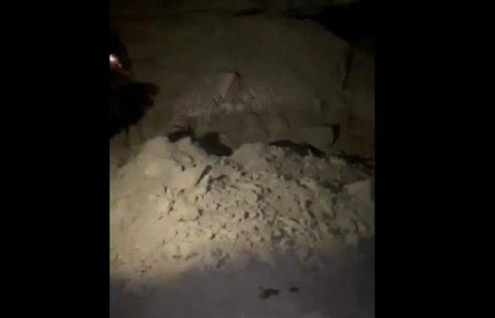 سقوط صاروخ في لحفد الجبيلية (فيديو)