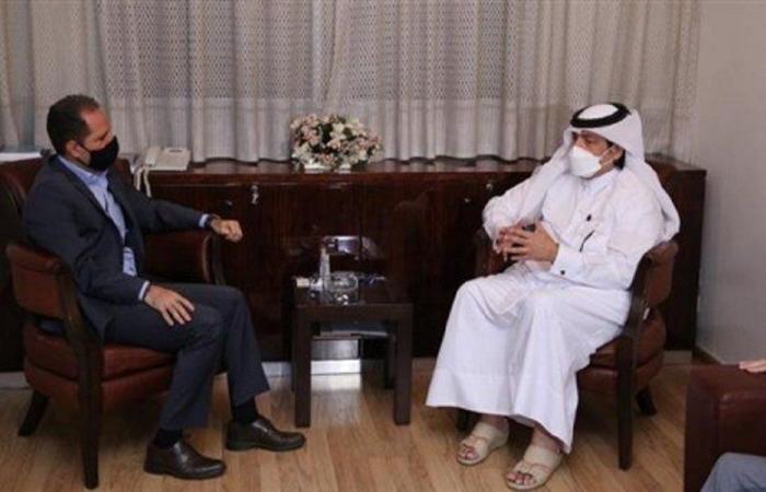 الجميل استقبل سفير قطر مودعًا