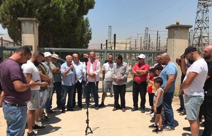 اعتصام تحذيري لأهالي البقاع الأوسط أمام كهرباء لبنان-زحلة
