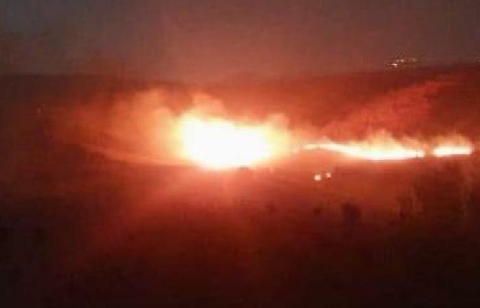 حريق كبير بالقرب من الحدود الإسرائيلية – اللبنانية