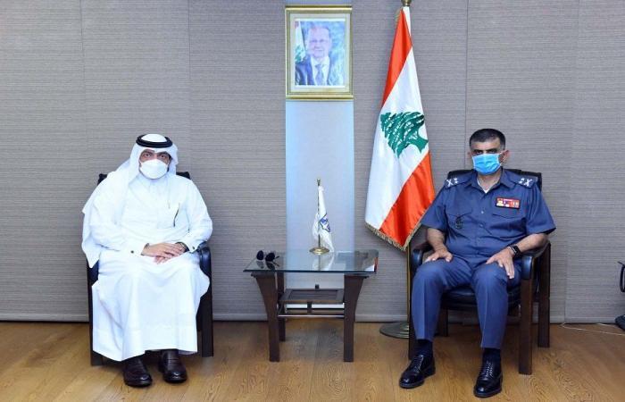 عثمان استقبل سفير قطر مودعا