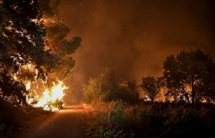 صور صادمة.. الحرائق تستعر مجدداً شمال أثينا