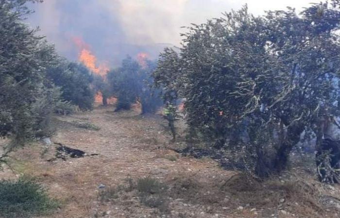 إخماد حريق في بخعون – الضنية