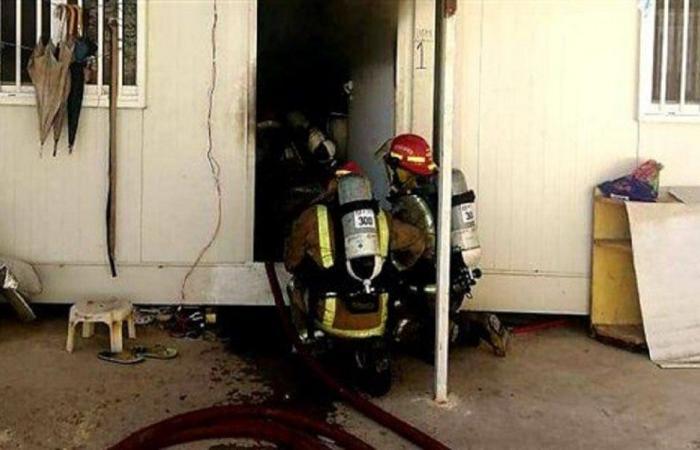 إخماد حريق داخل غرفة عمال في كسروان
