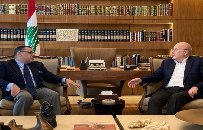الأوضاع اللبنانية بين ميقاتي والسفير المصري