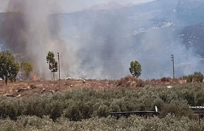اندلاع حريقين في خراج أميون وداربعشتار