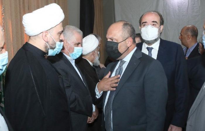 """وفد من """"القوات"""" قدم التعازي بوفاة الشيخ قبلان"""