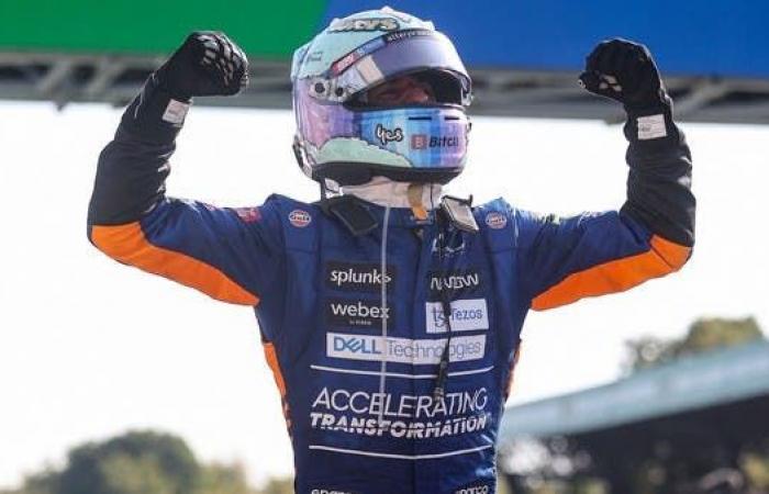 ريكياردو يعيد مكلارين إلى المركز الأول للمرة الأولى منذ 2012