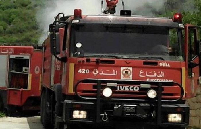 إخماد حريق في احراج عكار