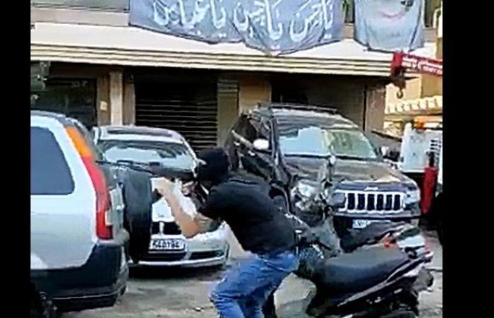 """مسلحون من """"الثنائي"""" يطلقون النار في بيروت (فيديو)"""