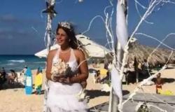 """زفاف ابنة حسين فهمي على البحر.. والعريس بـ""""الشورت"""""""
