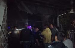 حريق في مبنى في بلدة أنصارية